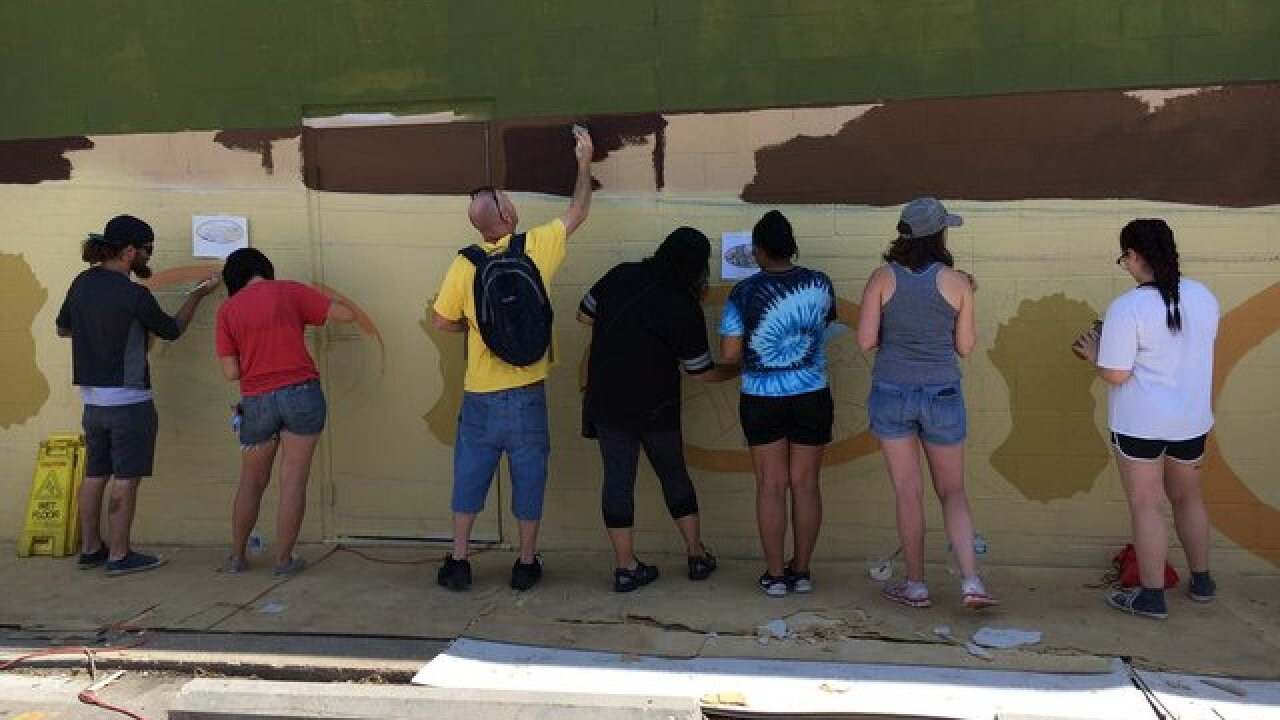 Community Mural Celebrates Nebraska's 150th Anniversary