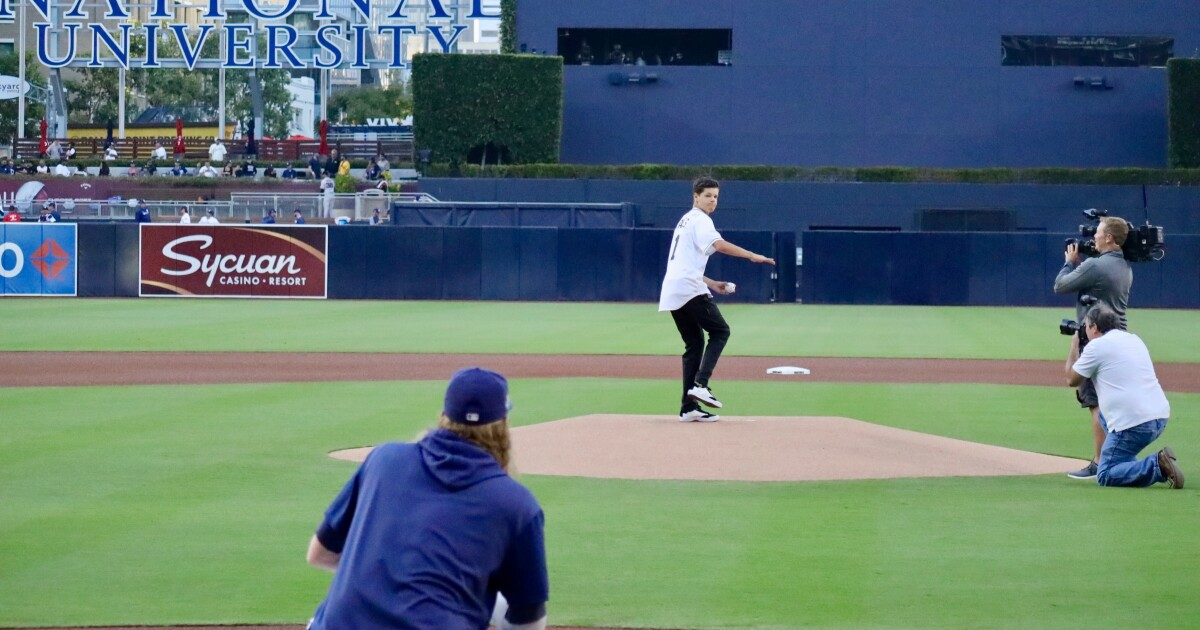 Teen Bitten By Shark Throws First Pitch At Padres Game
