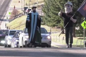 Montana Tech in Butte holds parade for fall graduates