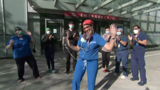 Wilkinson dancing UCSD ER nurse back from NY.png