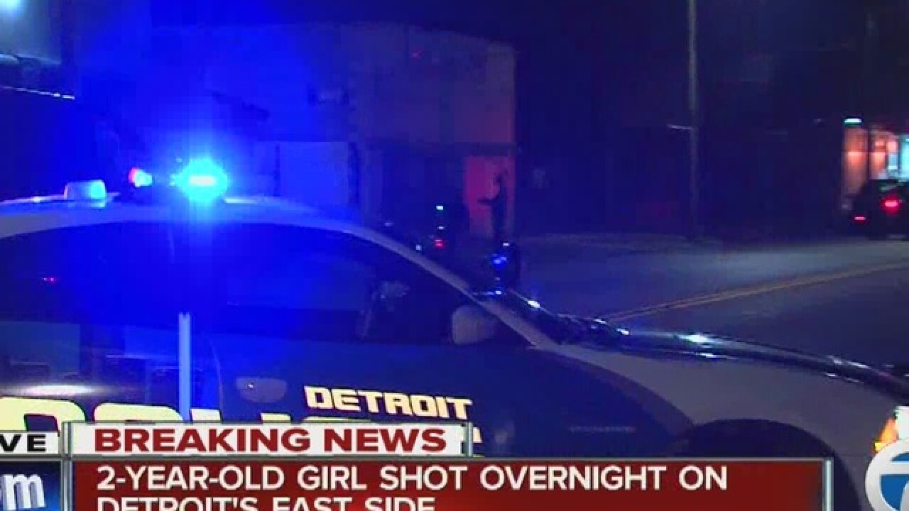 2-year-old shot on Detroit's east side