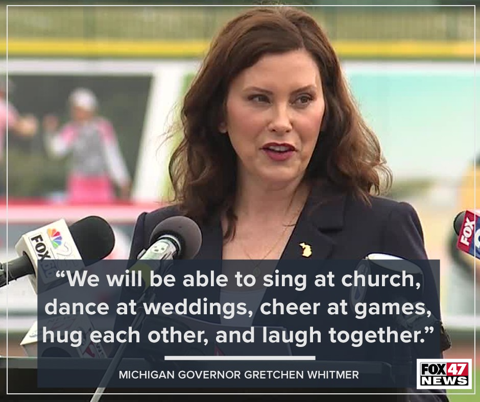 """Gov. Whitmer on being able to """"vac"""" back to normal"""