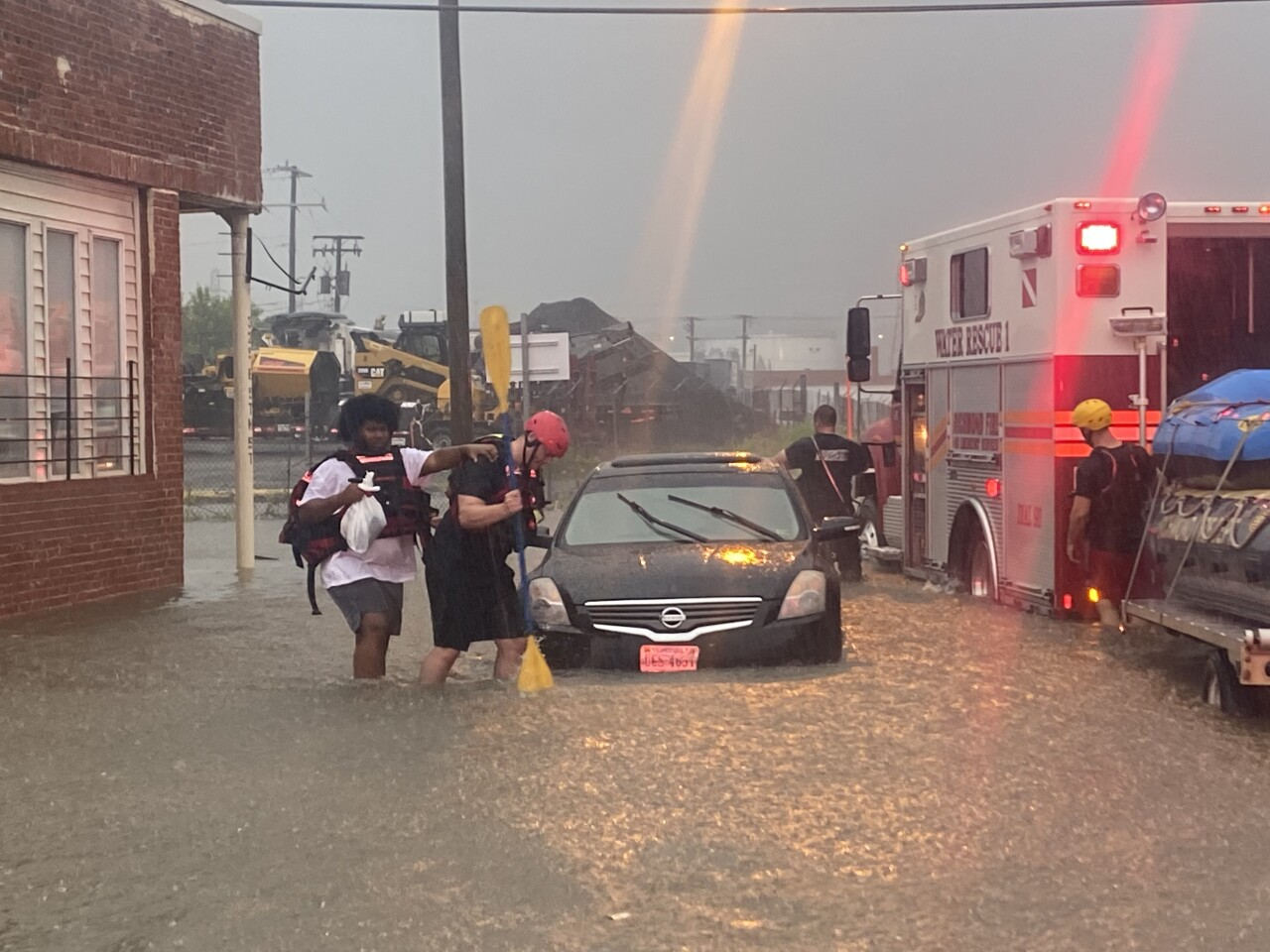 Richmond Fire rescues 19 people from cars amid flash floods