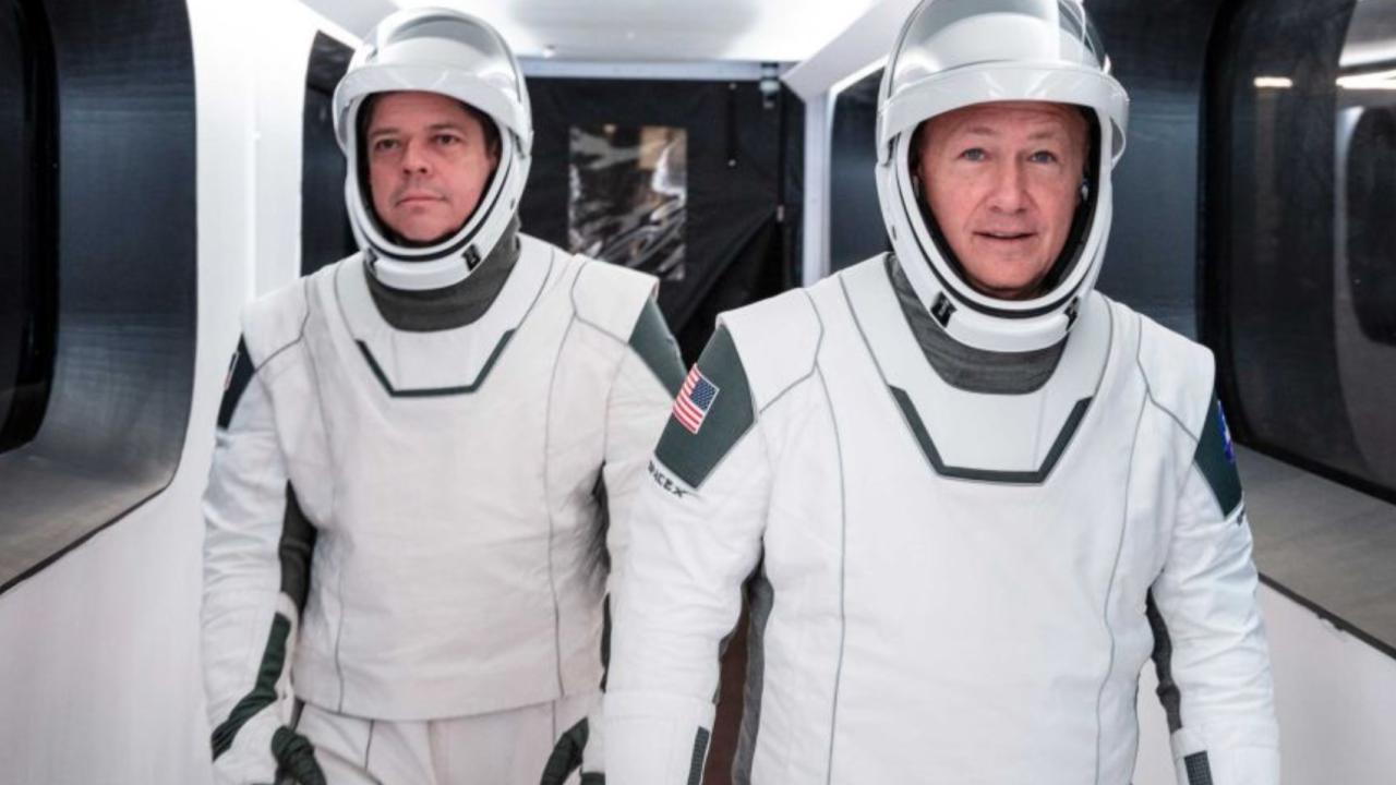 Astronauts Bob Behnken and Doug Hurley.