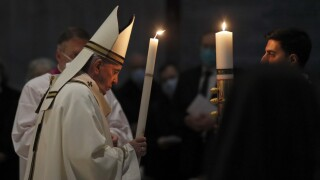 APTOPIX Vatican Pope Easter Vigil