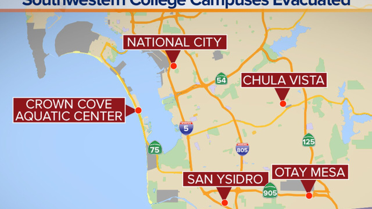 Southwestern College closed due to threat