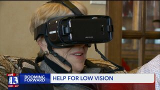 Booming Forward: VR-like device helps those with visiondegeneration