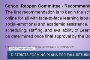 Districts forming plans for fall return