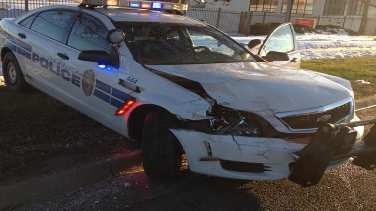 Police officer hurt during chase in Thornton