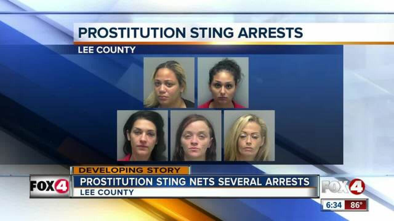 15 arrests made in Lee County prostitution sting