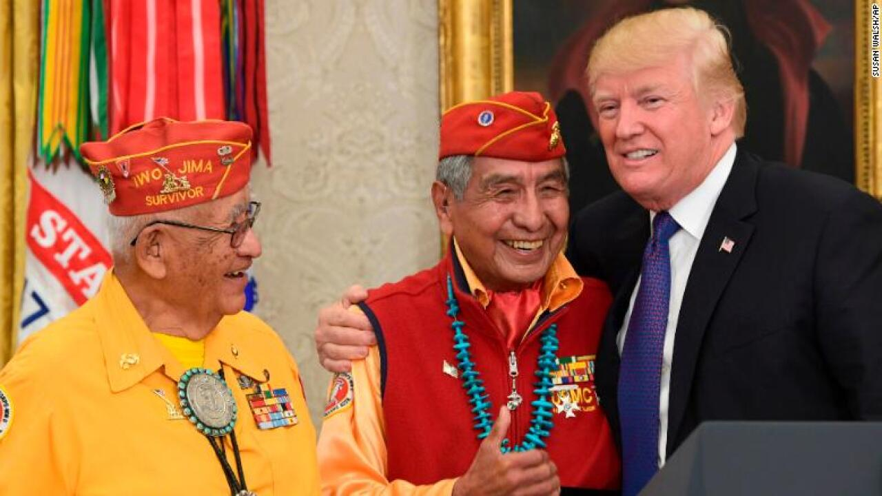 President Trump calls Sen. Warren 'Pocahontas' while hosting Navajo veterans' event