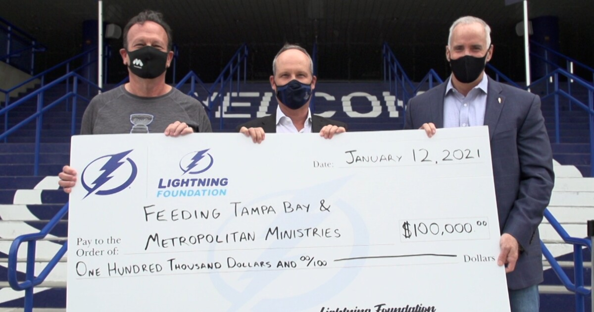 Lightning honor Feeding Tampa Bay, Metropolitan Ministries for helping families amid pandemic