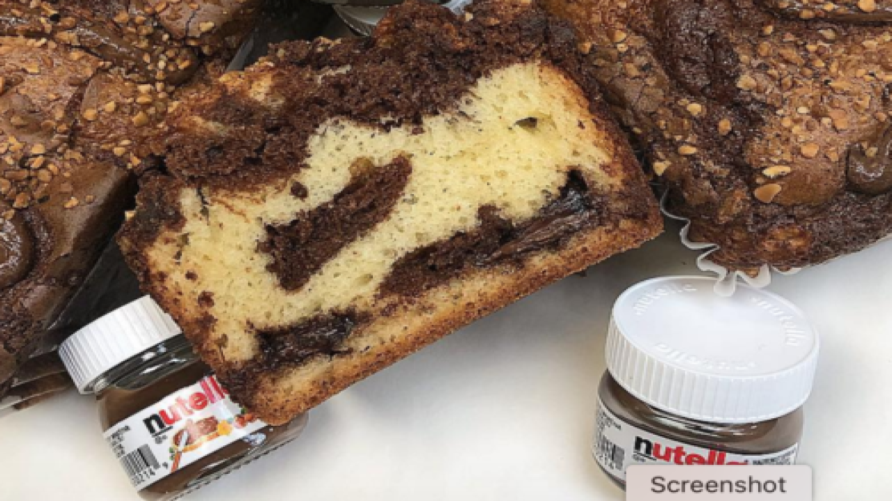Nutella Cream Cheese Pound Cake Is The Dense, Creamy Cake Of Our Dreams