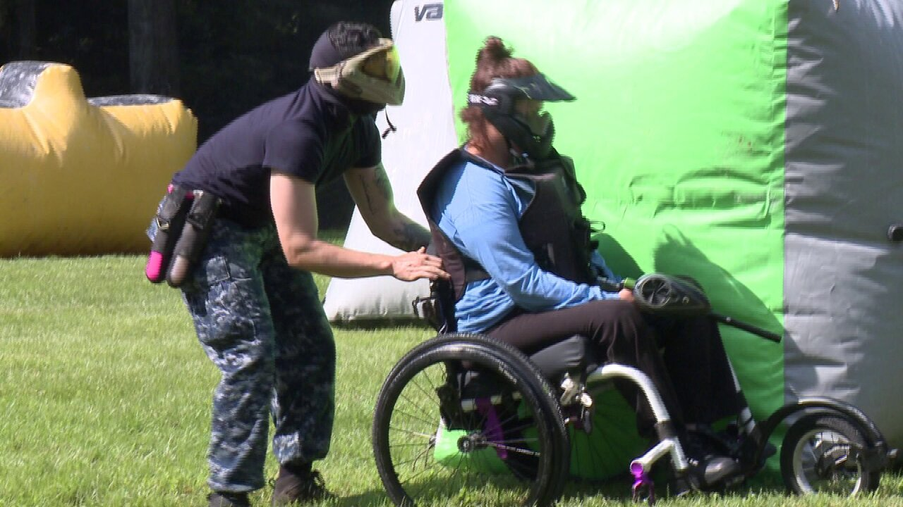 People with quadriplegia and paraplegia get a chance to experience paintball in an epic Virginia Beachbattle