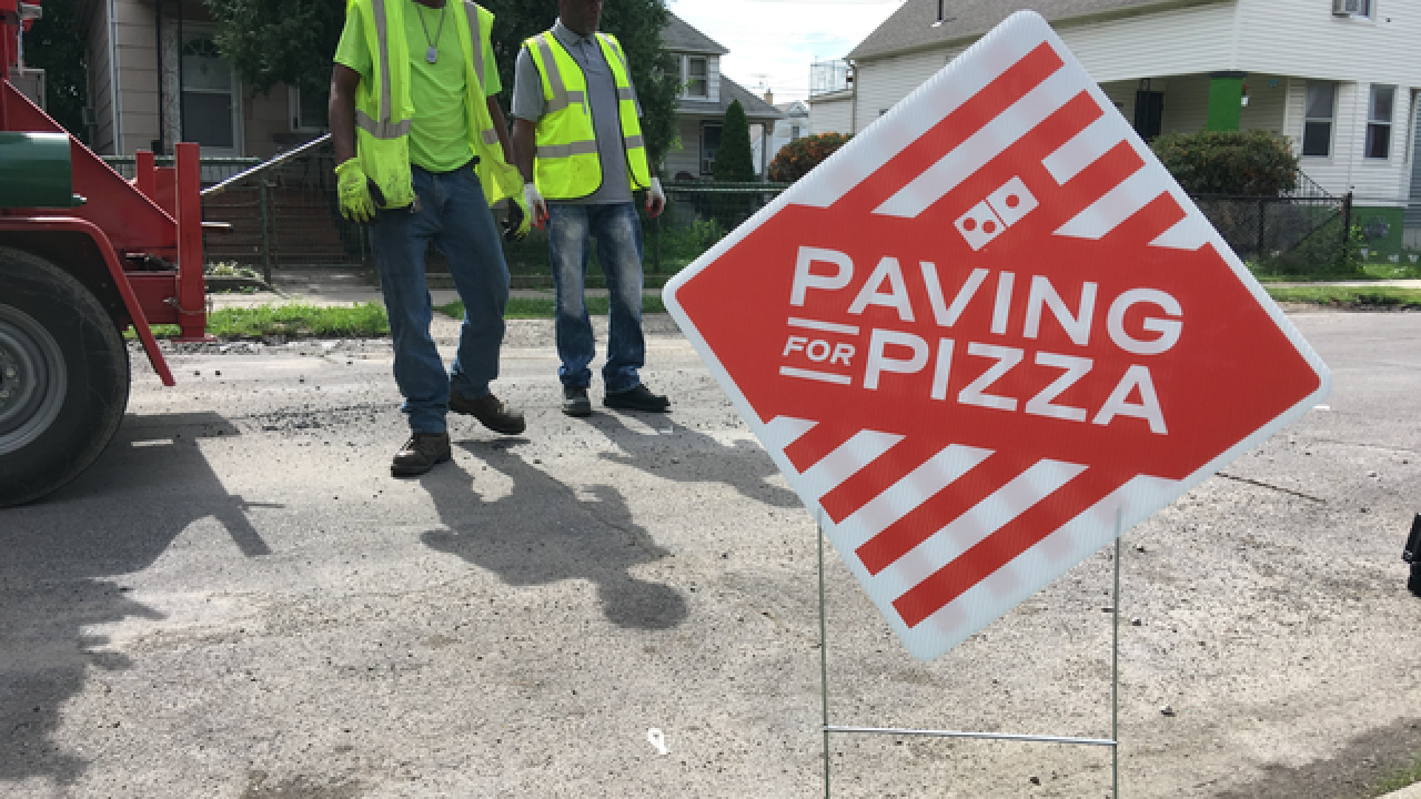 Hamtramck receives grant from Domino's pizza to fix potholes