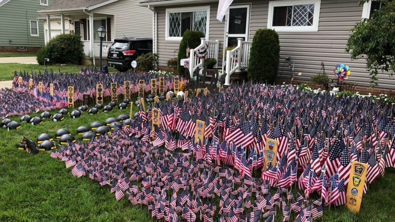 Local patriots mark 9/11 with flag displays