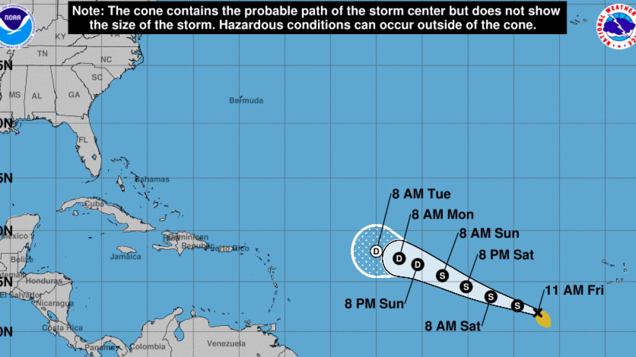 Tropical Storm Wilfred forms in the eastern Atlantic, becomes last NHC named storm of 2020