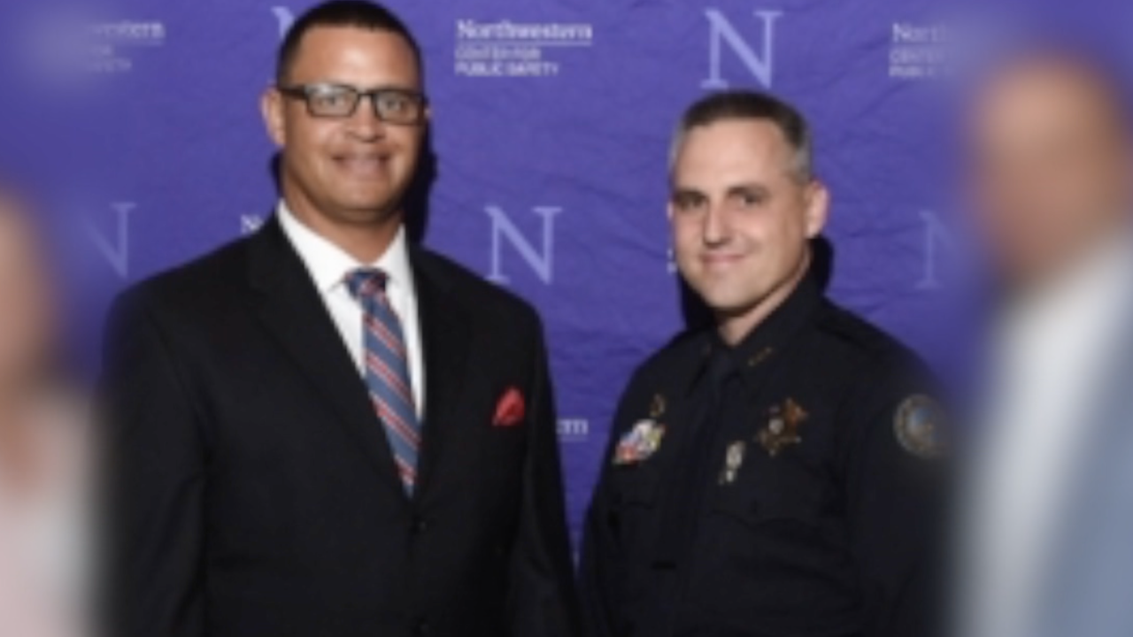 Scottsdale Police Commander Aaron Minor and Assistant Chief Richard Slavin