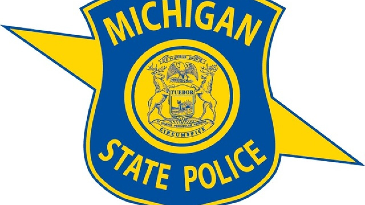 Michigan State Police patrol car rear-ended by suspected drunk driver