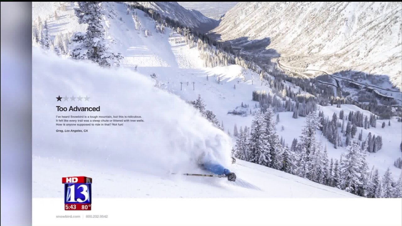 Snowbird spotlights one-star rating in latest adcampaign