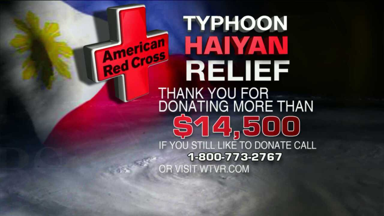 Red Cross raises $14,000 at CBS 6 for Typhoon Haiyan relief efforts