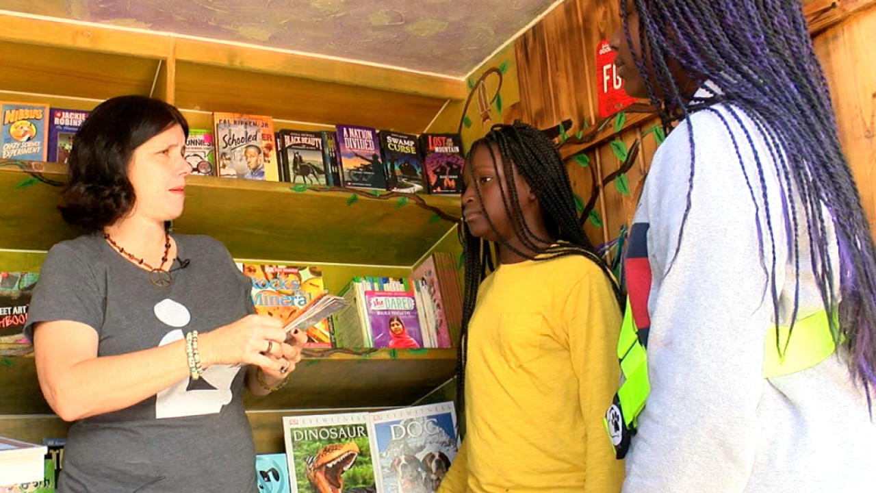 Tampa's Bess the Book Bus rolling across the country giving