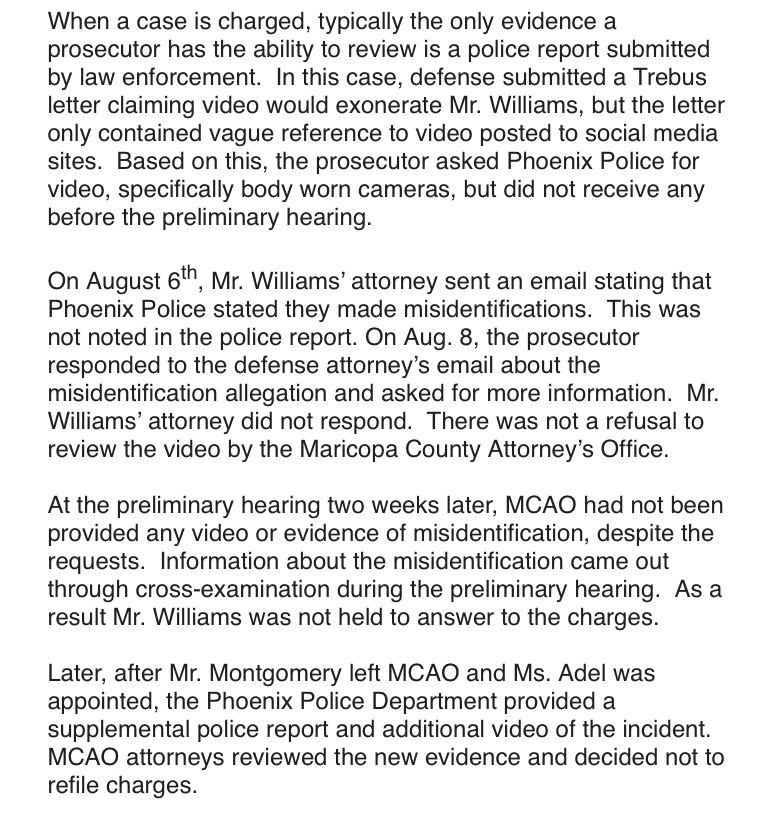 Maricopa County Attorney's Office statement