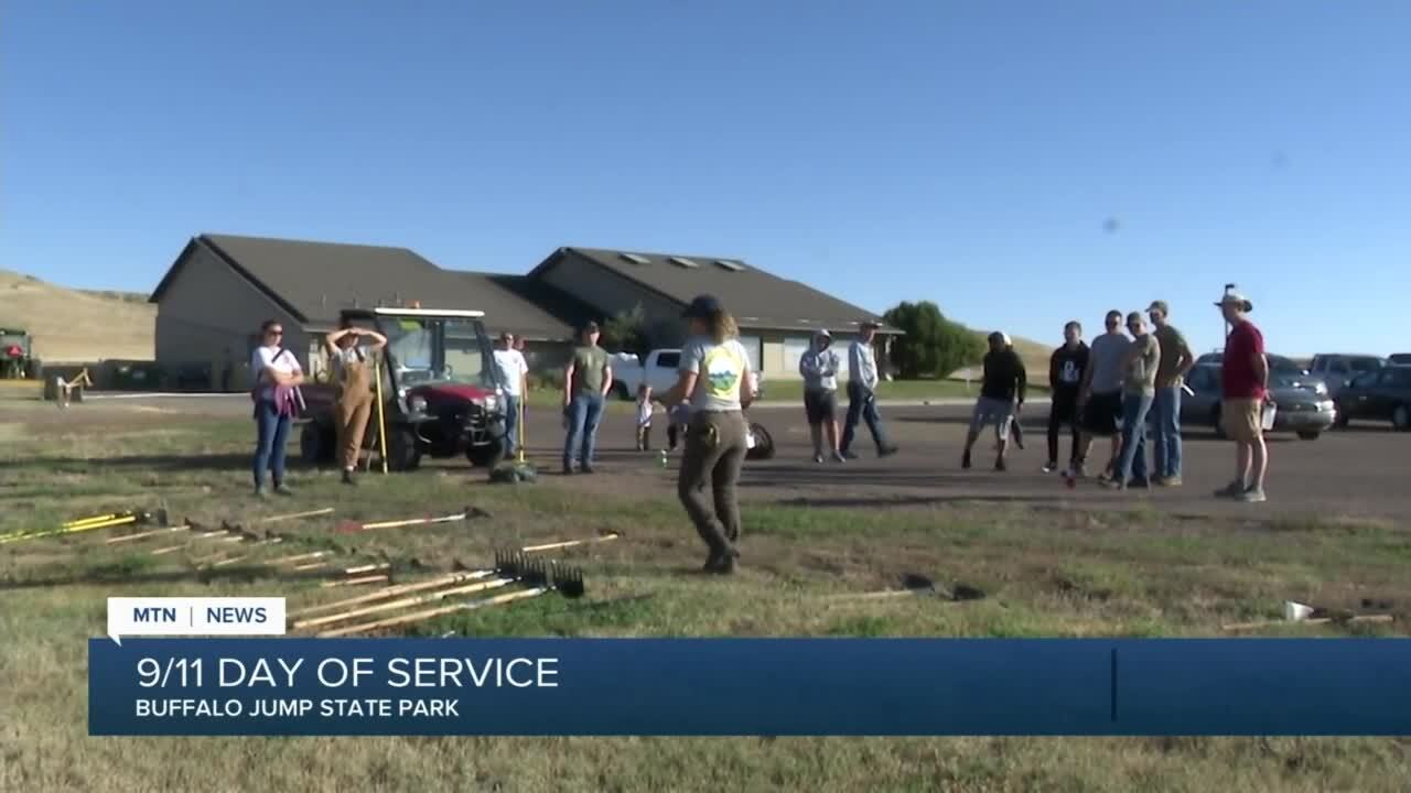 Volunteers help clean up First People's Buffalo Jump State Park