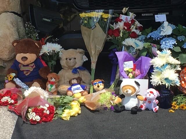 PHOTOS: Community creates memorial for Southport Police Lt. Aaron Allan