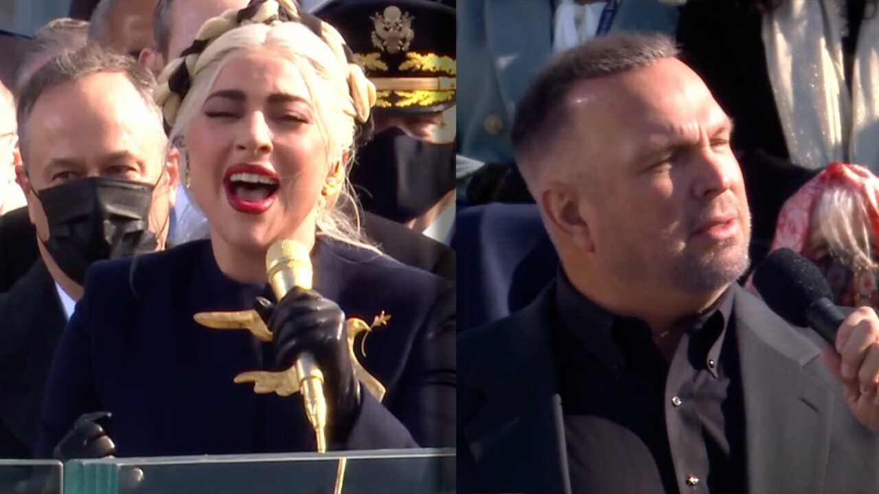 Lady Gaga and Garth Brooks at Inauguration
