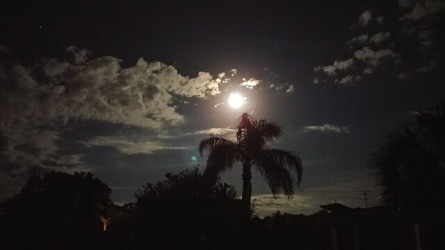 Supermoon over South Florida on Sunday, Dec. 3, 2017