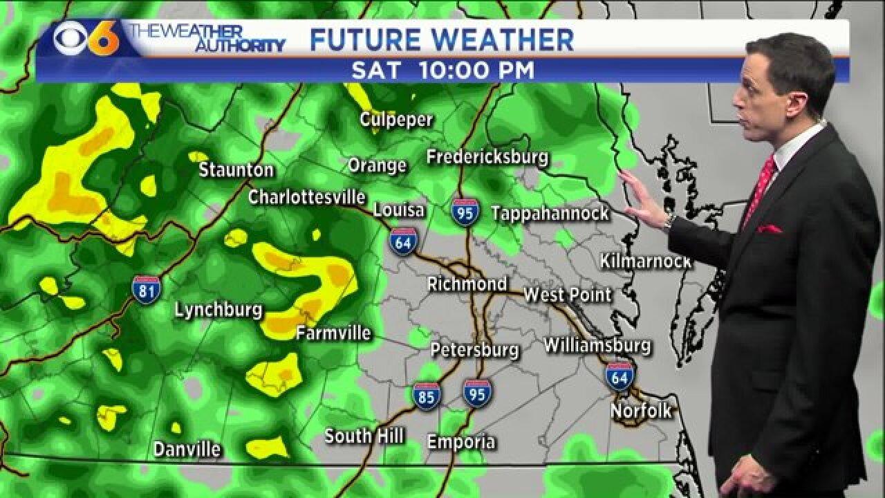 Rain chances increase through Saturdaynight