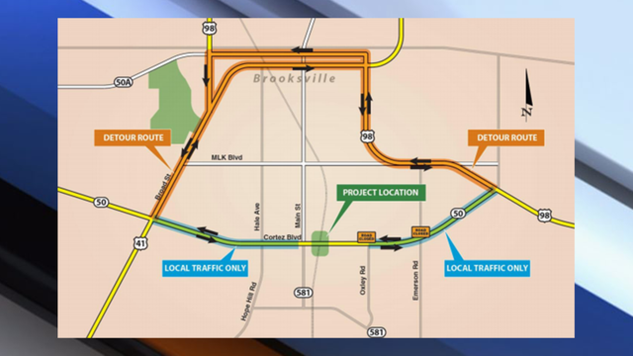 Portion of State Road 50 to close for 30 days as crews make improvements