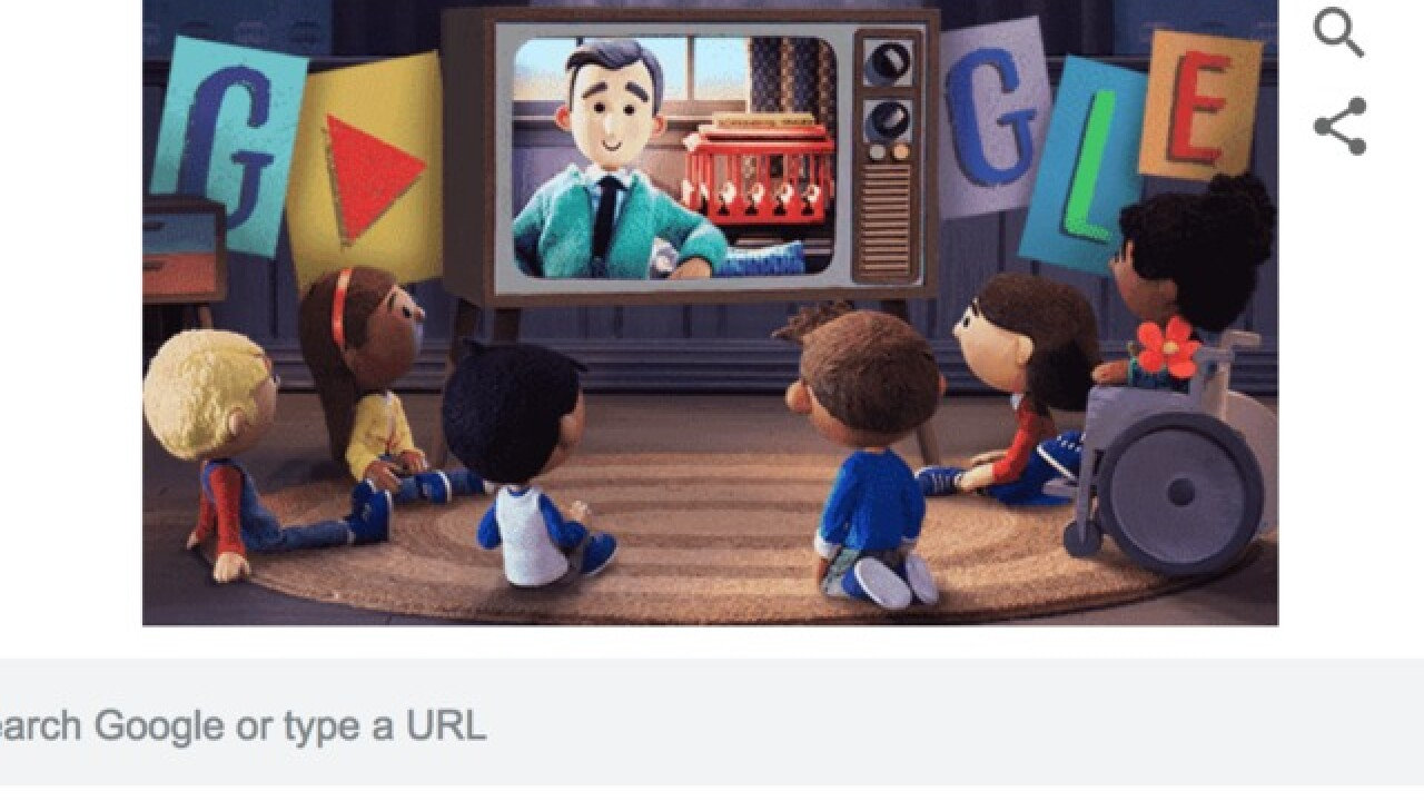 Today's Google Doodle is a heartwarming tribute to Mr. Rogers