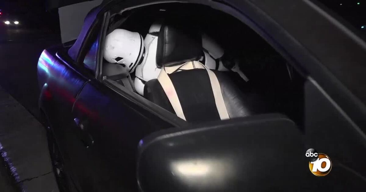 Chase ends in standoff with Star Wars stormtrooper