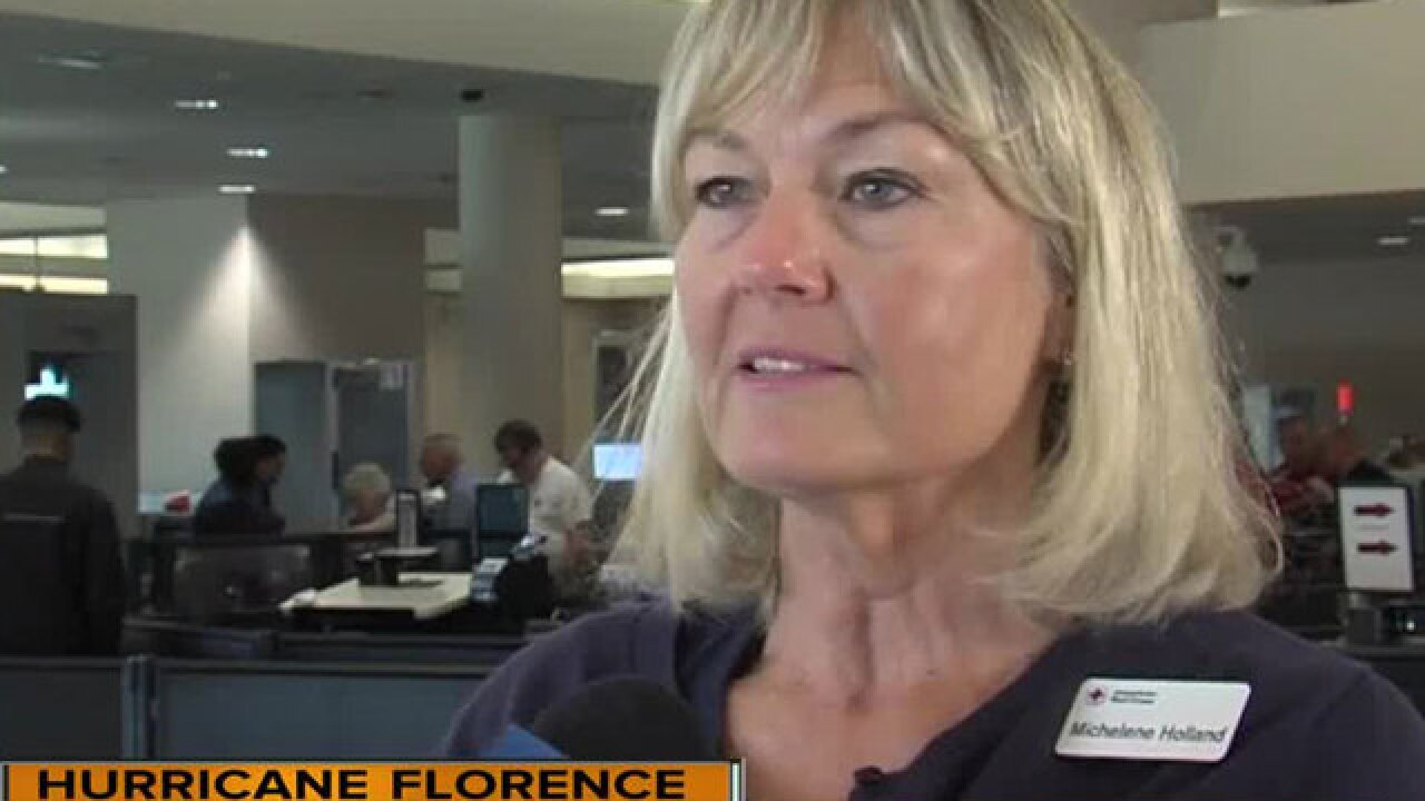 Local Red Cross volunteers leaving for areas in path of Hurricane Florence