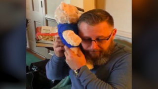 Dad Listens To Late Son's Heartbeat In Teddy Bear