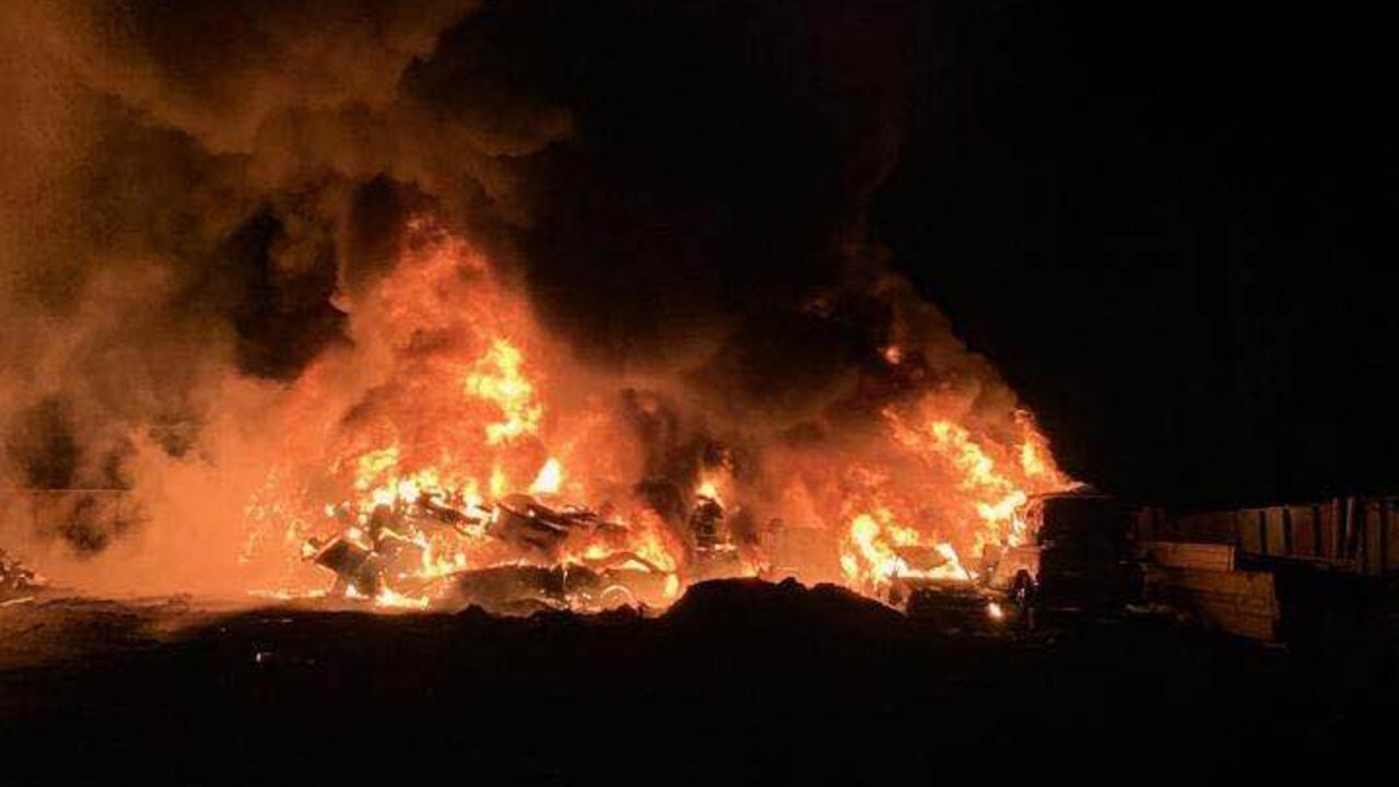 A fire hit Pacific Steel and Recycling near Kalispell