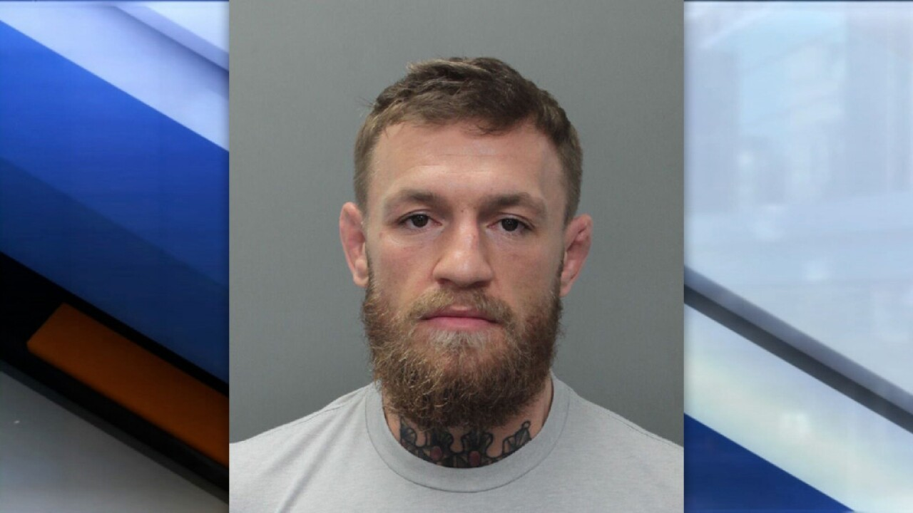 UFC star Conor McGregor arrested for allegedly stomping on someone's phone in south Florida