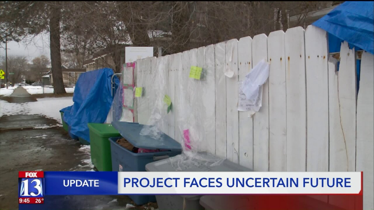 Utah woman struggles to keep giving project alive after bins chained to fence were stolen