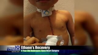Local 9-year-old undergoes open-heart surgery, thanks the community for their support