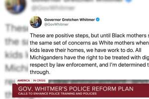 Gov. Whitmer's police reform plan