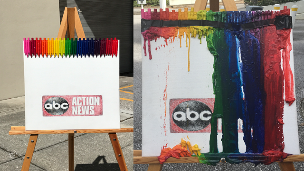 How to make your own melted crayon art