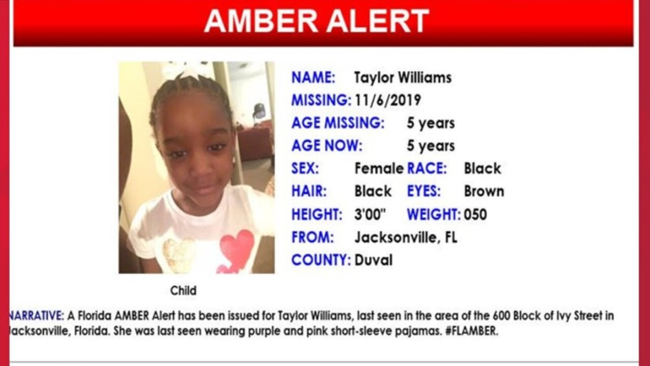 taylor rose williams amber alert