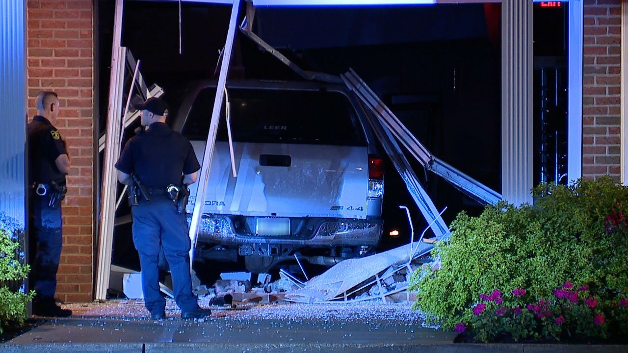 Willoughby truck into building