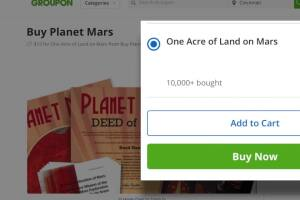 Groupon selling land on Mars: really?