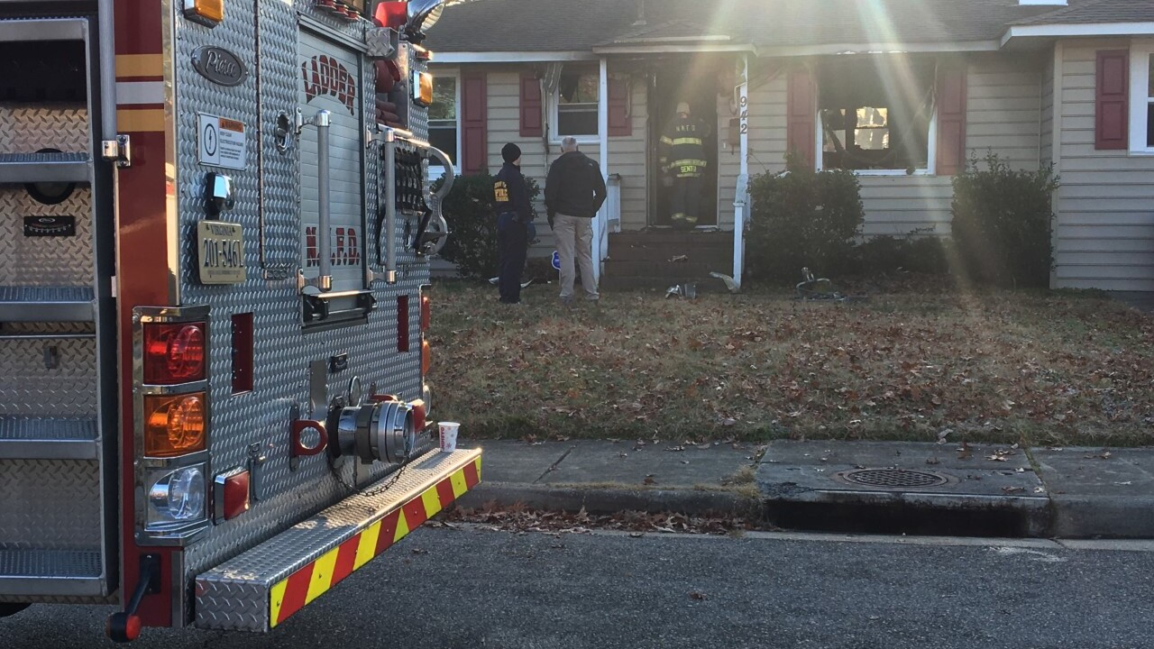 Family of 3 displaced following Newport News fire