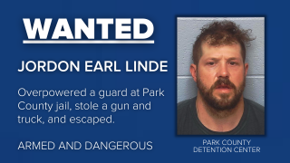 Jordon Earl Linde, an inmate at the Park County Detention Center in Livingston, escaped, is armed, and should be considered dangerous.