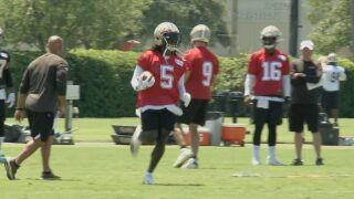 Saints' tomfoolery highlights final day