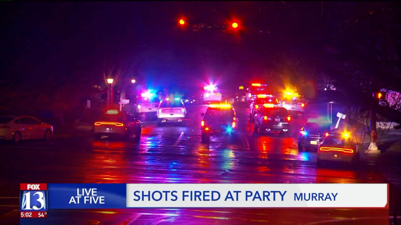 Murray Police say shots fired call began when suspects were barred from birthday party